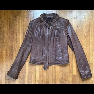 Leather Motorcycle Jacket / Abercrombie & Fitch